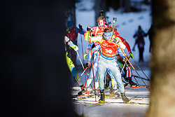 Fredrik Lindstroem (SWE) competes during Men 12,5 km Pursuit at day 3 of IBU Biathlon World Cup 2015/16 Pokljuka, on December 19, 2015 in Rudno polje, Pokljuka, Slovenia. Photo by Ziga Zupan / Sportida