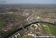 aerial photograph of Nottingham Nottinghamshire  England Great Britain UK