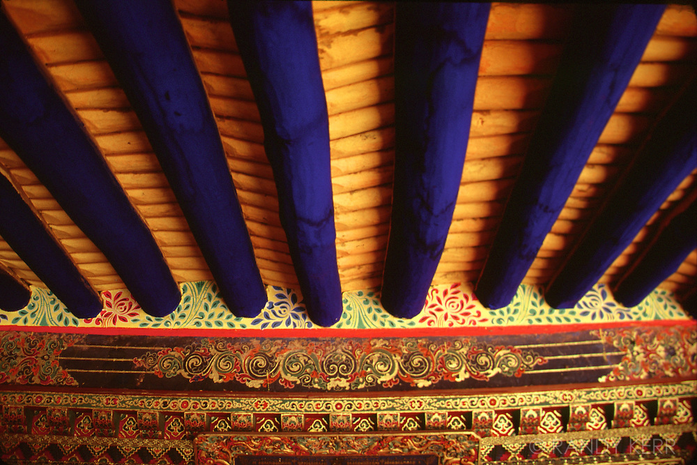 Tibet ceiling at Potola Palace