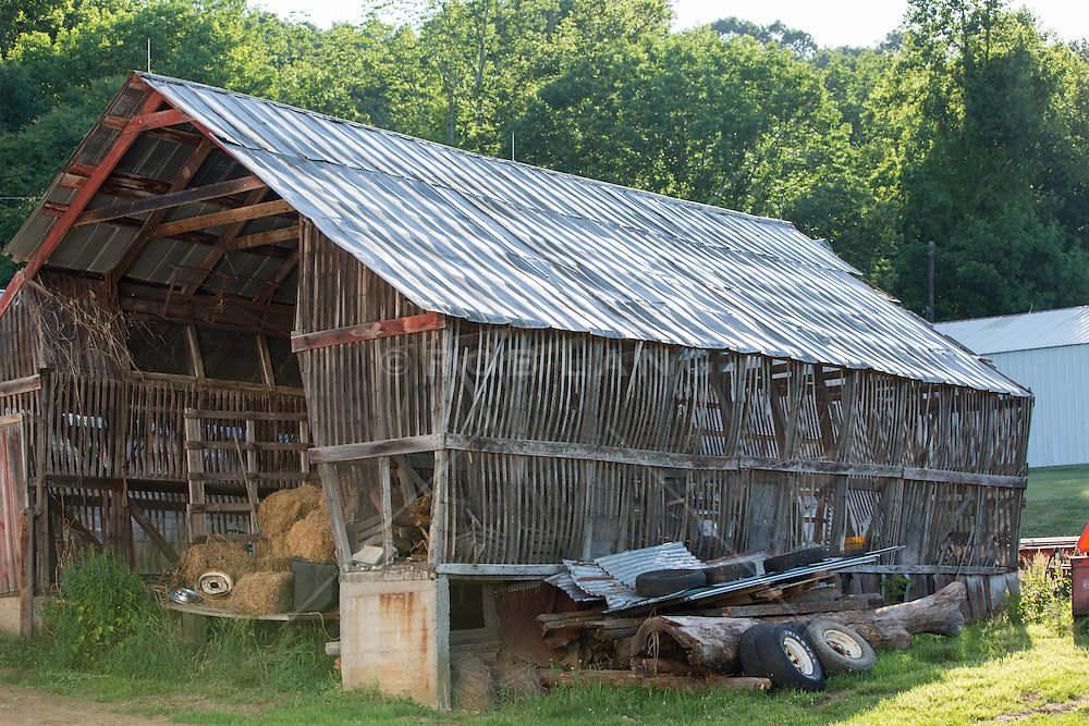 old rustic wooden barn