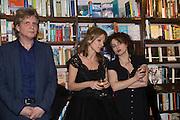 COSMO LANDESMAN; ALLIE ESIRI; HELENA BONHAM-CARTER,  Allie Esiri's The Love Book launch party , Daunt Books <br /> 83 Marylebone High Street, London. 5 February 2014