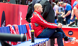 12.05.2017, Zatika Sport Centre, Porec, CRO, EHF EM, Herren, Österreich vs Frankreich, Gruppe B, im Bild Trainer Patrekur Johannesson (AUT) // during the preliminary round, group B match of the EHF men's Handball European Championship between Austria and France at the Zatika Sport Centre in Porec, Croatia on 2017/05/12. EXPA Pictures © 2018, PhotoCredit: EXPA/ Sebastian Pucher