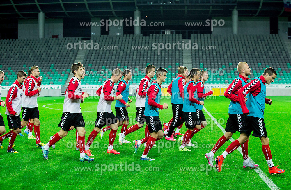 Practice session of Lithuanian National Football team one day before Euro 2016 Qualifying game between Slovenia and Lithuania, on October 8, 2015 in SRC Stozice, Ljubljana Slovenia. Photo by Vid Ponikvar / Sportida