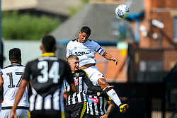 Curtis Davies of Derby County heads the ball clear - Mandatory by-line: Robbie Stephenson/JMP - 14/07/2018 - FOOTBALL - Meadow Lane - Nottingham, England - Notts County v Derby County - Pre-season friendly