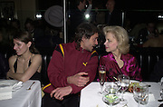 David Lachapelle and Lynn Wyatt. Jeff Koons exhibition opening and dinner. Gagosian Gallery and Mr. Chow. Los Angeles. 22 March 2001. © Copyright Photograph by Dafydd Jones 66 Stockwell Park Rd. London SW9 0DA Tel 020 7733 0108 www.dafjones.com