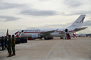 Spanish Royals Official Plane before the Spanish Royals depart from Adolfo Suarez Madrid-Barajas Airport to Cuba for Two Days State Visit  on November 11, 2019 in Madrid, Spain