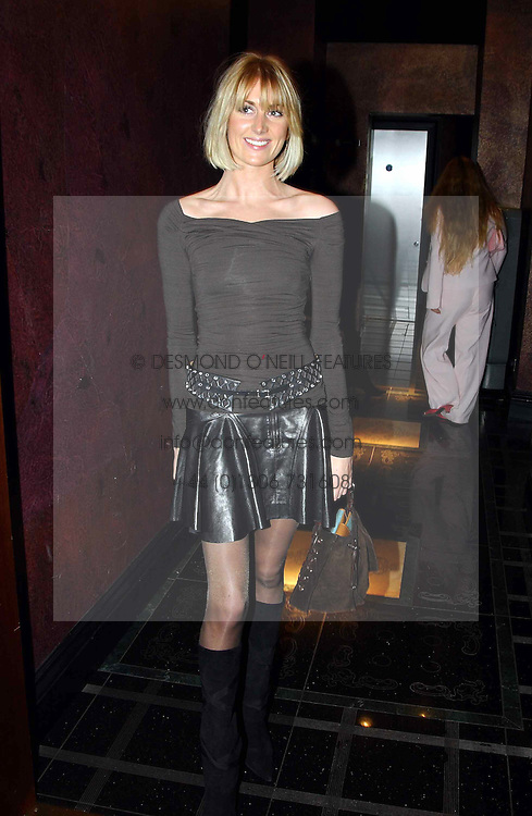 LADY EMILY COMPTON at a party to celebrate a new collection of sexy underware by Janet Reger called 'Naughty Janet' held at 5 Cavendish Square, London on 19th October 2004.<br />