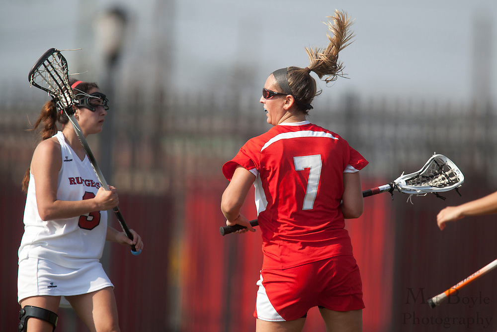 Montclair State Univeristy Lacrosse Senior Maggie Fallon (7); Rutgers-Camden Lacrosse against Montclair State University  on Wednesday March 21, 2012. (photo / Mat Boyle)