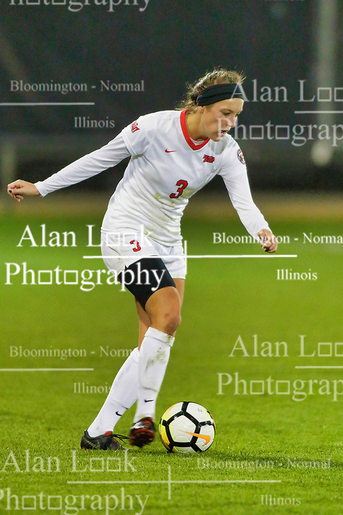 NORMAL, IL - October 17:  Kiley Czerwinski during an NCAA Missouri Valley Conference (MVC)  women's soccer match between the Indiana State Sycamores and the Illinois State Redbirds October 17 2018 on Adelaide Street Field in Normal IL (Photo by Alan Look)