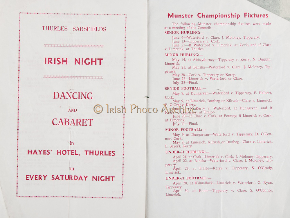 National Hurling League Semi-Final.Semple Stadium, Thurles, Co. Tipperary.11.04.1976  11th April 1976.Clare v Wexford