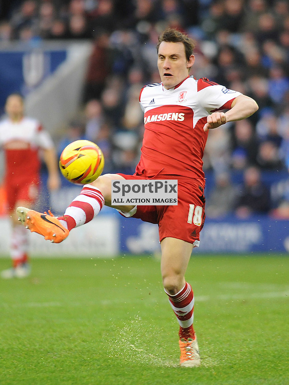 Dean Whitehead Middlesbrough, Leicester City v Middlesbrough, Sky Bet Championship, Saturday 25th January 2014