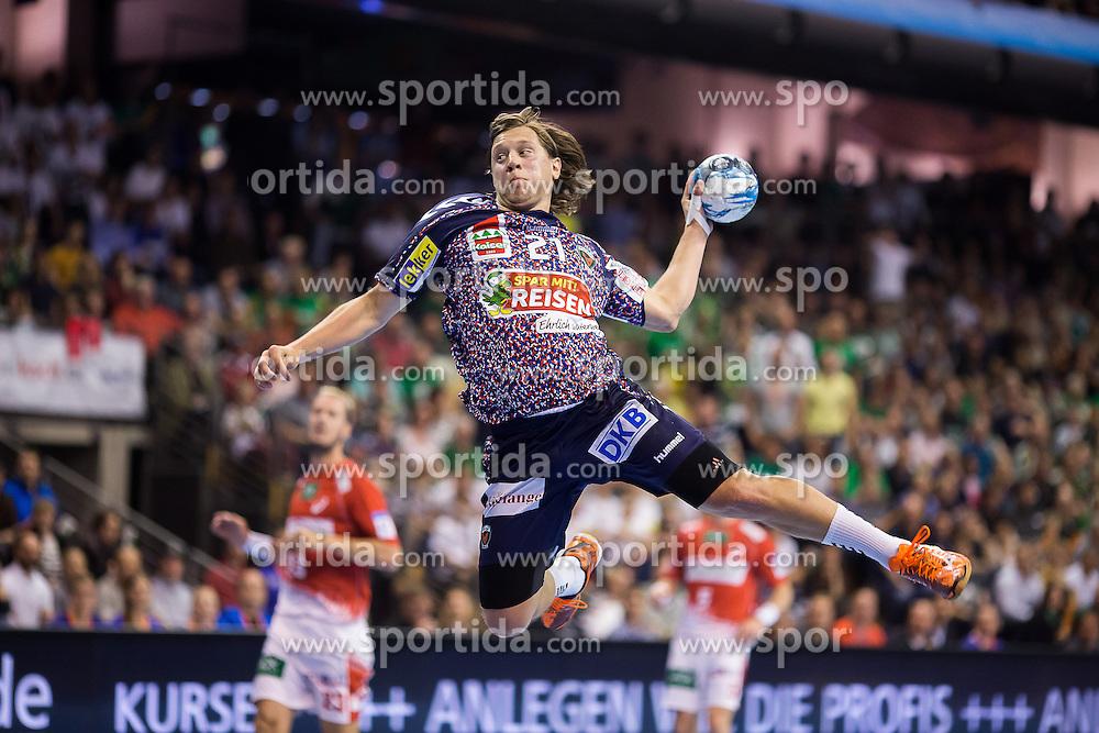 Berlin, Deutschland, 17.05.2015:<br /> Handball EHF Cup Finale 2014 / 2015 - Fuechse Berlin - HSV Hamburg - EHF CUP Finals 2014/15.<br /> <br /> Mattias Zachrisson (Fuechse #21) *** Local Caption *** &copy; pixathlon