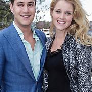 NLD/Amsterdam/20120419 - Lancering Moet Ice Imperial, Liza Sips en partner Joel Davans