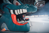 KELOWNA, CANADA - JANUARY 10: Tyrell Goulbourne #12 of the Kelowna Rockets enters the ice against the Medicine Hat Tigers on January 10, 2015 at Prospera Place in Kelowna, British Columbia, Canada.  (Photo by Marissa Baecker/Shoot the Breeze)  *** Local Caption *** Tyrell Goulbourne;