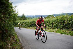 Coryn Rivera (USA) leads up the Bethlehem Hill climb on Stage 6 of 2019 OVO Women's Tour, a 125.9 km road race from Carmarthen to Pembrey, United Kingdom on June 15, 2019. Photo by Sean Robinson/velofocus.com