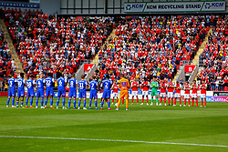 Ipswich Town players and Rotherham United during a minute's applause in honour of Honorary Life President Barry (Chuckle) Elliott and former Rotherham United Chairman Syd Wood - Mandatory by-line: Ryan Crockett/JMP - 11/08/2018 - FOOTBALL - Aesseal New York Stadium - Rotherham, England - Rotherham United v Ipswich Town - Sky Bet Championship
