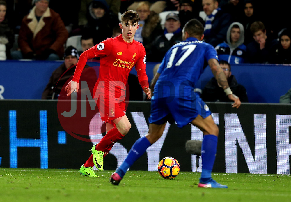 Ben Woodburn of Liverpool - Mandatory by-line: Robbie Stephenson/JMP - 27/02/2017 - FOOTBALL - King Power Stadium - Leicester, England - Leicester City v Liverpool - Premier League