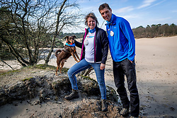 18-03-2018 NED: We hike to change diabetes, Soest<br /> Training voor de Camino 2018 op de Soesterduinen / Bas, Belder en IJda