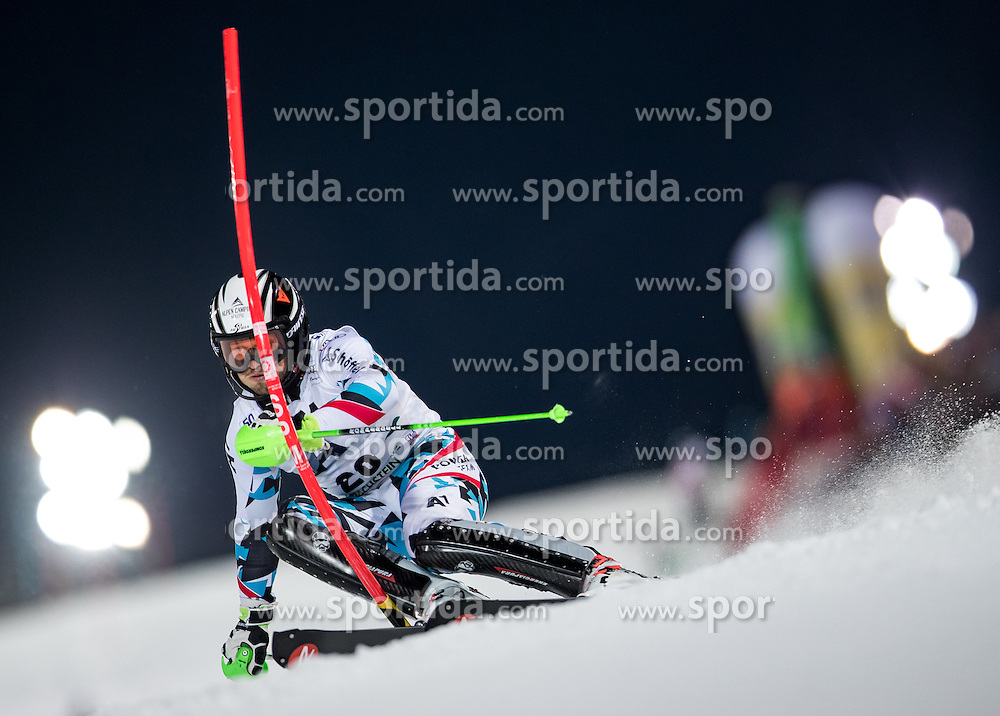 24.01.2017, Planai, Schladming, AUT, FIS Weltcup Ski Alpin, Schladming, Slalom, Herren, 1. Lauf, im Bild Christian Hirschbuehl (AUT) // Christian Hirschbuehl of Austria in action during his 1st run of men's Slalom of FIS ski alpine world cup at the Planai in Schladming, Austria on 2017/01/24. EXPA Pictures © 2017, PhotoCredit: EXPA/ Johann Groder