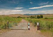 Gate along the 89 mile Weiser River Trail, Idaho.
