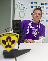 David Ferk, 12th player of NK Maribor during press conference of Hervis Cup 2011, on May 23, 2011 in Stozice, Ljubljana, Slovenia. NK Domzale and NK Maribor will play in the Final of Hervis Cup 2011 at Stozice Stadium.  (Photo By Vid Ponikvar / Sportida.com)