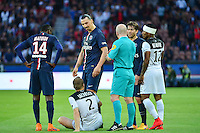 Zlatan IBRAHIMOVIC / Lars JACOBSEN - 08.05.2015 -  PSG / Guingamp - 36eme journee de Ligue 1<br />