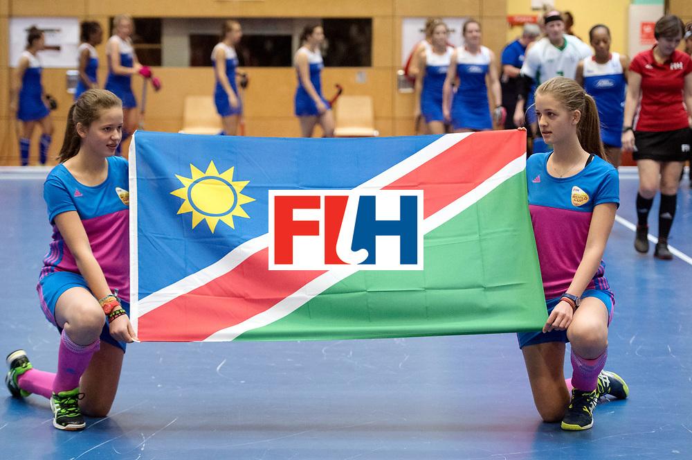 BERLIN - Indoor Hockey World Cup<br /> Australia - Namibia<br /> foto: Line Up<br /> WORLDSPORTPICS COPYRIGHT FRANK UIJLENBROEK