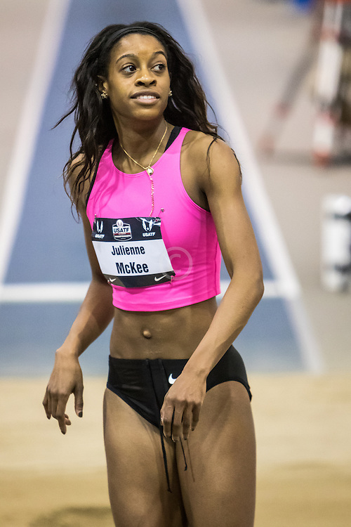 USATF Indoor Track & Field Championships: womens long jump, Julienne McKee