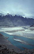 View of the indus river from above Skardu, Baltistan, Easter Pakistan, Asia
