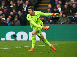 March 31, 2018 - London, Greater London, United Kingdom - Crystal Palace's Wayne Hennessey.during the Premiership League  match between Crystal Palace and Liverpool at Wembley, London, England on 31 March 2018. (Credit Image: © Kieran Galvin/NurPhoto via ZUMA Press)