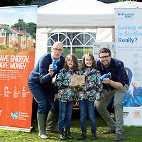 """FREE TO USE PHOTOPGRAPH…Deputy First Minister John Swinney MSP presenting the aaward for the first water efficient village in Scotland to twins Daisy (left) and Skye MacDonald with James Irvine General Manager of Birnam Arts<br />Images to accompany Scottish Water press release: """"Scotland's First Water Efficient Village"""".<br />Contact: Gavin Steel, Scottish Water Regional Manager (North) on 07484 517674, or email gavin.steel@scottishwater.co.uk<br />Picture by Graeme Hart.<br />Copyright Perthshire Picture Agency<br />Tel: 01738 623350  Mobile: 07990 594431"""