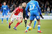 Charlton midfielder Josh Cullen (24) on the attack during the EFL Sky Bet League 1 match between Peterborough United and Charlton Athletic at London Road, Peterborough, England on 26 January 2019.