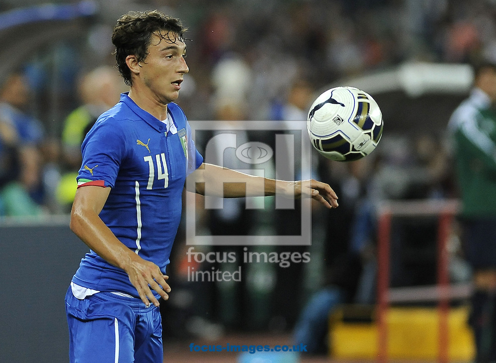 Matteo Darmian of Italy during the International Friendly match at Stadio San Nicola, Bari<br /> Picture by Stefano Gnech/Focus Images Ltd +39 333 1641678<br /> 04/09/2014