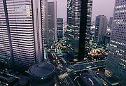 Shinjuku high rise district.  Tokyo, Japan.
