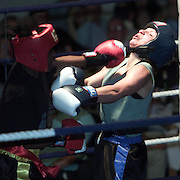 CAMBRIDGE UNIVERSITY STUDENT JESS HUDSON FIGHTING SANDRA WILLIAMS AT THE GUILDHALL IN CAMBRIDGE .