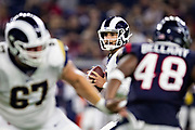 HOUSTON, TX - AUGUST 29:  Brandon Allen #8 of the Los Angeles Rams drops back to pass during a game against the Houston Texans during week four of the preseason at NRG Stadium on August 29, 2019 in Houston, Texas. The Rams defeated the Texans 22-10.   (Photo by Wesley Hitt/Getty Images) *** Local Caption *** Brandon Allen