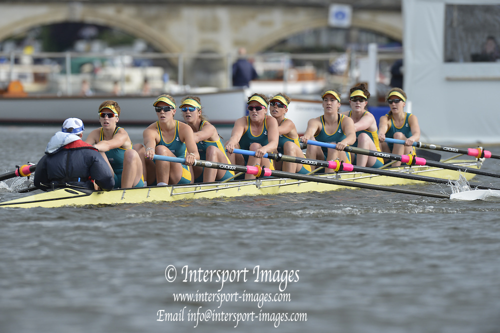 Henley, GREAT BRITAIN.  Remenham Challenge Cup .  NRCE AUS. AUS W8+ [U23], during their Friday heat.  2012 Henley Royal Regatta. ..Friday  19:37:27  29/06/2012. [Mandatory Credit, Peter Spurrier/Intersport-images]...Rowing Courses, Henley Reach, Henley, ENGLAND . HRR.