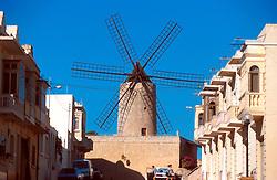 MALTA GOZO XAGHRA JUL00 - The historic windmill in Xaghra village.. . jre/Photo by Jiri Rezac. . © Jiri Rezac 2000. . Tel:   +44 (0) 7050 110 417. Email: info@jirirezac.com. Web:   www.jirirezac.com