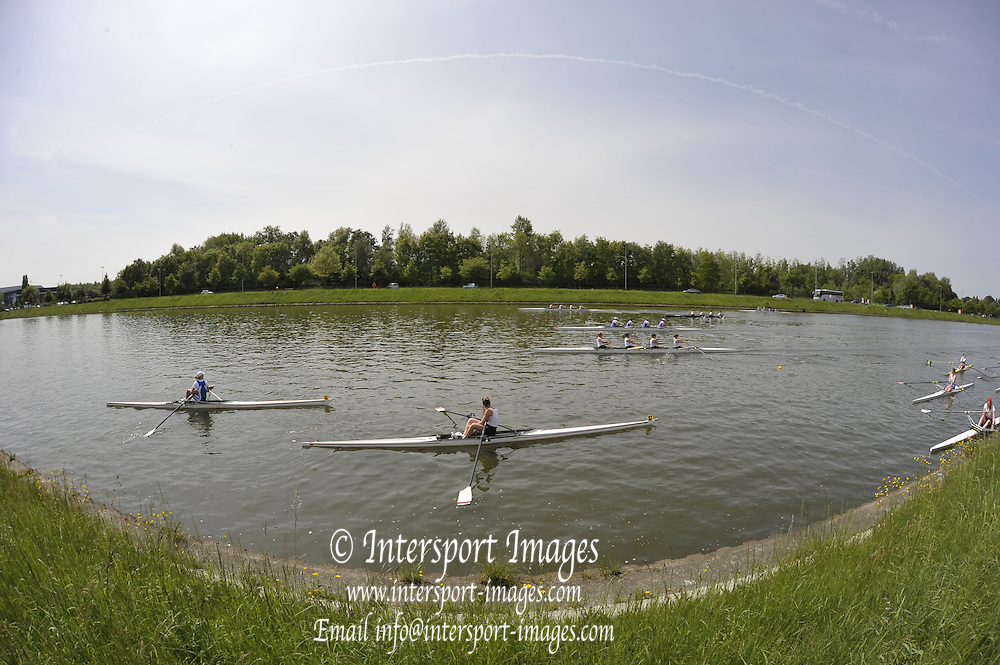 Gent, BELGIUM,  General views,  Crews boating from Koninklijke Roeiveniging, Sport Club, Gent,  Boathouse and Boating area.  International Belgian Rowing Championships, Saturday 09/05/2009, [Mandatory Credit. Peter Spurrier/Intersport Images]