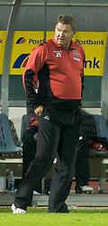San Marino, San Marino - Wednesday, October 17, 2007: Wales' manager John Toshack during the Group D UEFA Euro 2008 Qualifying match against San Marino at the Serravalle Stadium. (Photo by David Rawcliffe/Propaganda)