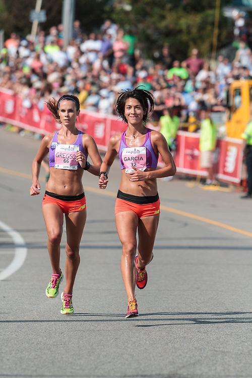 Falmouth Road Race Heidi Gregson, Stephanie Garcia