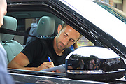 Craig Dawson Watford signs autographs during the Joe Thompson's Allstars v Joe Thompson's Celebrity 11 in Rochdale at the Crown Oil Arena, Rochdale, England on 21 July 2019.