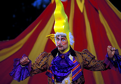 Stock photo of a costumed man performing at the International Festival in downtown Houston Texas