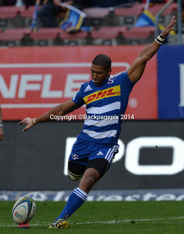 Kurt Coleman of The Stormers during the 2014 Super Rugby Match between The Stormers and The Bulls at Newlands Stadium, Cape Town on 5 July 2014 ©Chris Ricco/BackpagePix