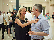 IWONA BLAZWICK; JAKE MILLER, Tate Summer Party. Celebrating the opening of the  Fiona Banner. Harrier and Jaguar. Tate Britain. Annual Duveens Commission 29 June 2010. -DO NOT ARCHIVE-© Copyright Photograph by Dafydd Jones. 248 Clapham Rd. London SW9 0PZ. Tel 0207 820 0771. www.dafjones.com.