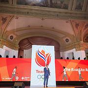 NLD/Scheveningen/20160713 - Perspresentatie sporters voor de Olympische Spelen 2016 in Rio de Janeiro, ................