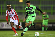 Forest Green Rovers Oliver Artwell(7) on the ball during the FA Youth Cup match between U18 Forest Green Rovers and U18 Cheltenham Town at the New Lawn, Forest Green, United Kingdom on 29 October 2018.