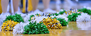SAN DIEGO, CA - MARCH 18:  West Virginia Mountaineers and Marshall Thundering Herd cheerleaders' pom poms are shown on the court during a second round game of the Men's NCAA Basketball Tournament at Viejas Arena in San Diego, California. West Virginia won 94-71.  (Photo by Sam Wasson)