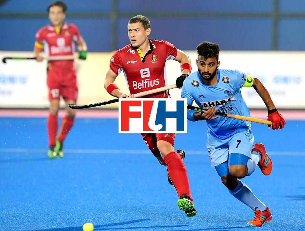 Odisha Men's Hockey World League Final Bhubaneswar 2017<br /> Match id:13<br /> Belgium v India<br /> Foto: Manpreet Singh (Ind) <br /> COPYRIGHT WORLDSPORTPICS FRANK UIJLENBROEK