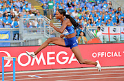 Dalilah Muhammad (USA) wins the women's 400m hurdles in 53.67 during the 39th Golden Gala Pietro Menena in an IAAF Diamond League meet at Stadio Olimpico in Rome on Thursday, June 6, 2019. (Jiro Mochizuki/Image of Sport)
